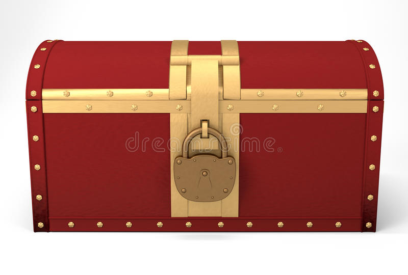 Download Closed chest stock illustration. Image of full, jewelery - 26046801