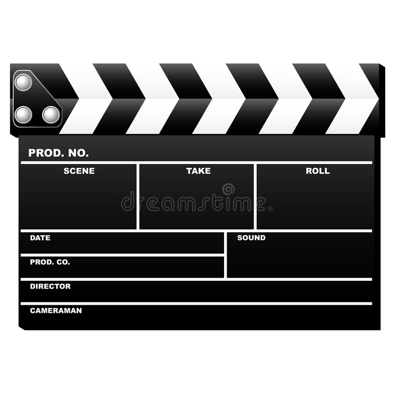 Download Closed clapboard stock vector. Illustration of board, movie - 2640347