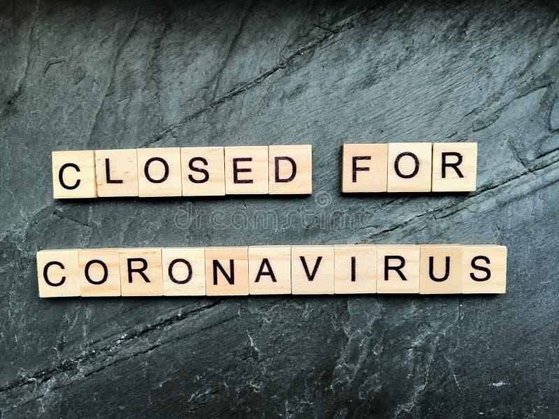 Closed for coronavirus royalty free stock photography
