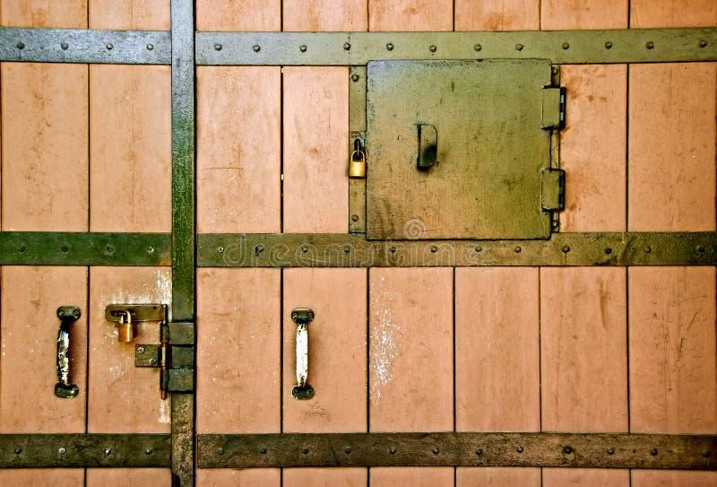 Closed door royalty free stock photo