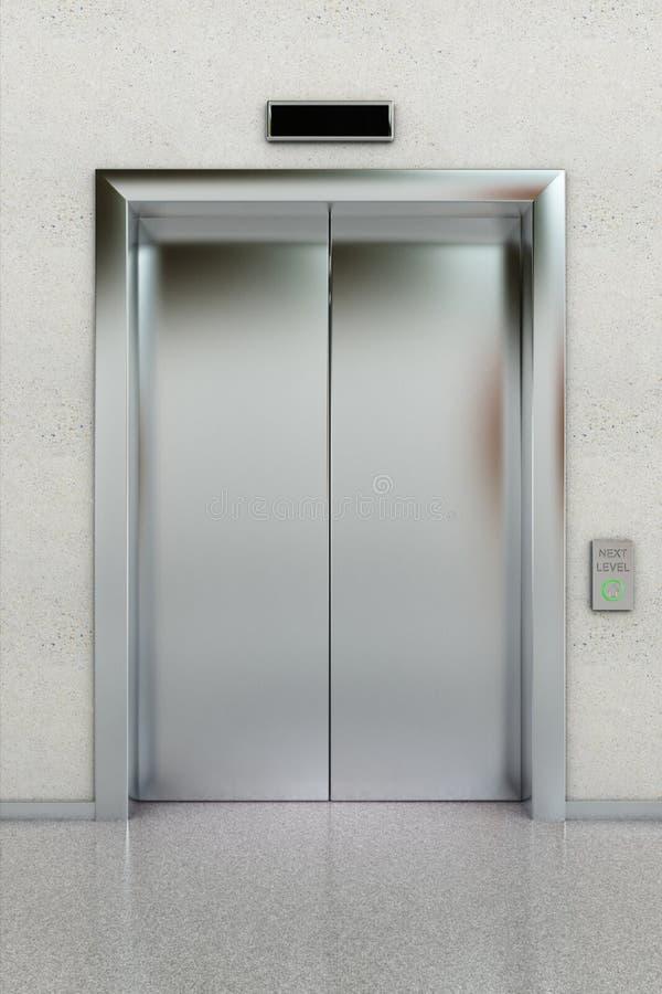 Closed elevator stock illustration