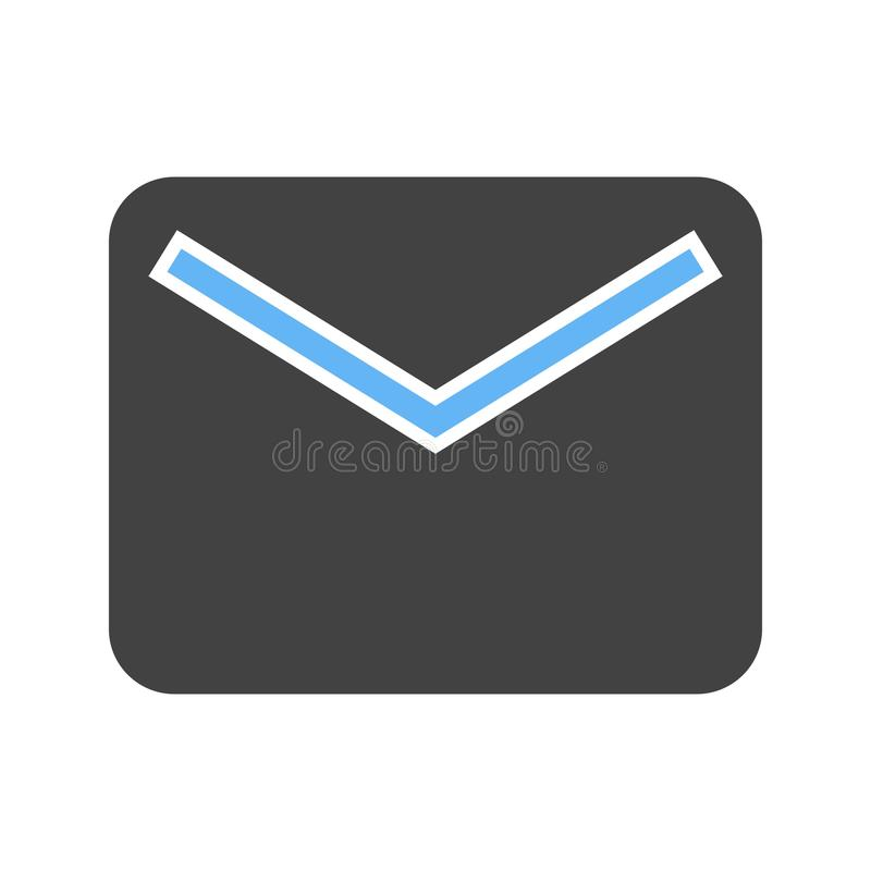 Closed Envelope III. Envelope, closed, message icon image. Can also be used for email, communication and messaging. Suitable for mobile apps, web apps and print royalty free illustration