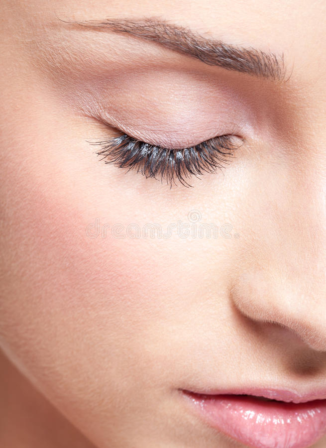 Download Closed Eye With Eye Shadows Stock Image - Image: 28367823