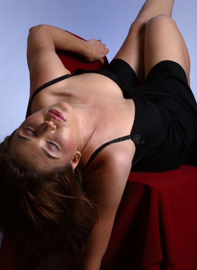 Download Closed eyes on chair stock image. Image of female, undress - 1558407