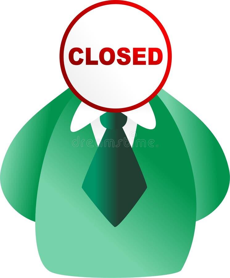 Closed face stock illustration