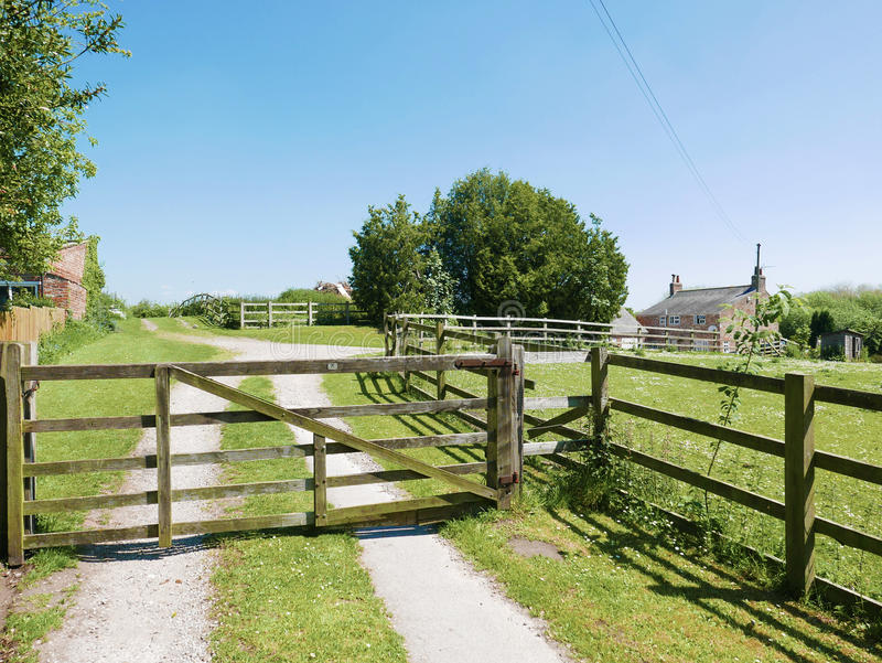 Closed farm gate royalty free stock images