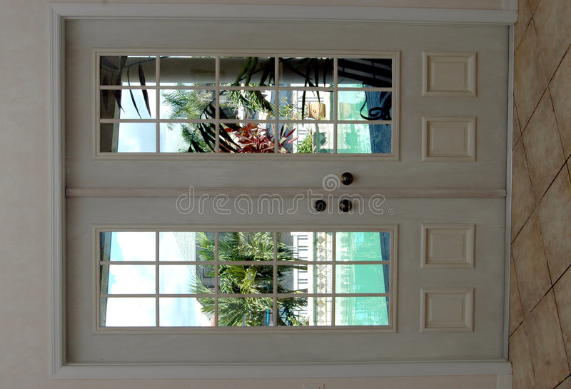 Closed French Doors Royalty Free Stock Image