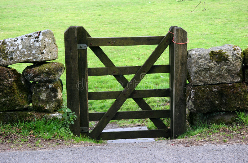 Closed Gate royalty free stock image