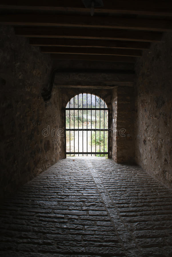 Download Closed Gate At The End Of A Tunnel Stock Photo - Image of monarch, classic: 21587010