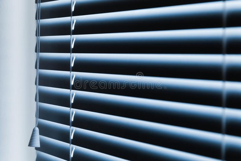 Closed horizontal new window blinds royalty free stock photos