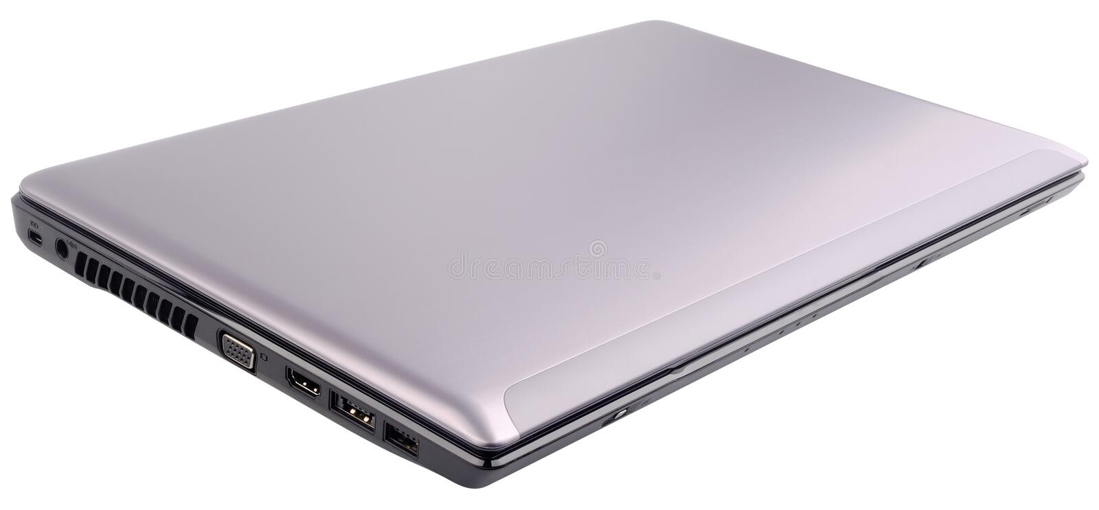 Closed laptop isolated royalty free stock image