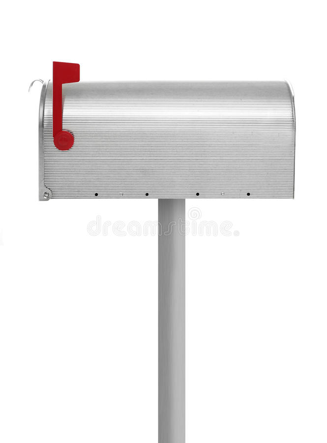 Closed Mailbox Stock Image Stock Photo Image of white open