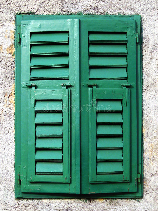 Closed mediterranean window royalty free stock photography