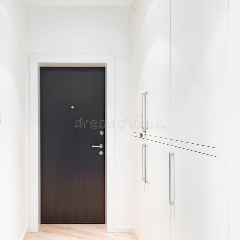 Closed metal door. stock images