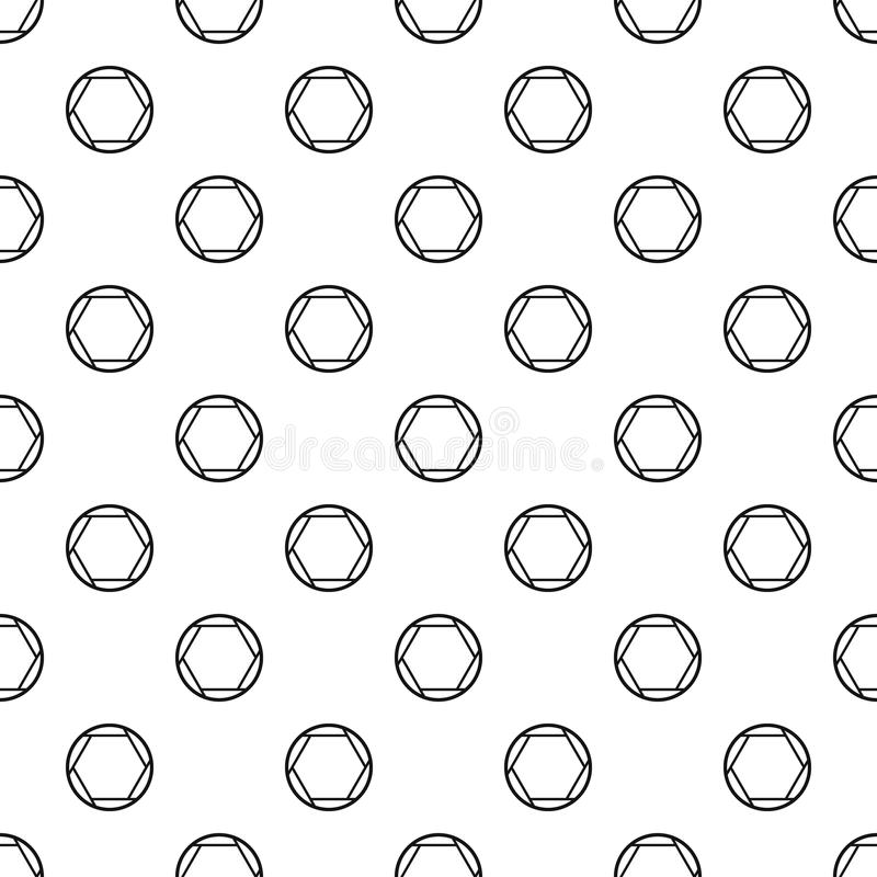 Closed objective pattern vector. Closed objective pattern seamless in simple style vector illustration royalty free illustration