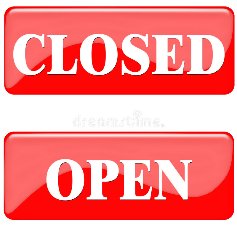 Closed Open Royalty Free Stock Image