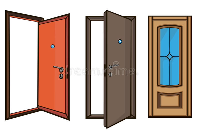 Download Closed And Open Doors .cartoon Style Stock Vector - Illustration of frame square  sc 1 st  Dreamstime.com & Closed And Open Doors .cartoon Style Stock Vector - Illustration of ...