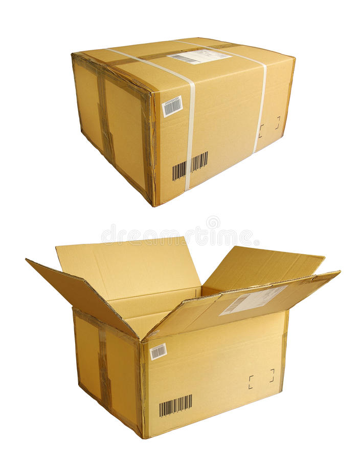Download Closed opened box stock image. Image of fragile, brown - 18601871