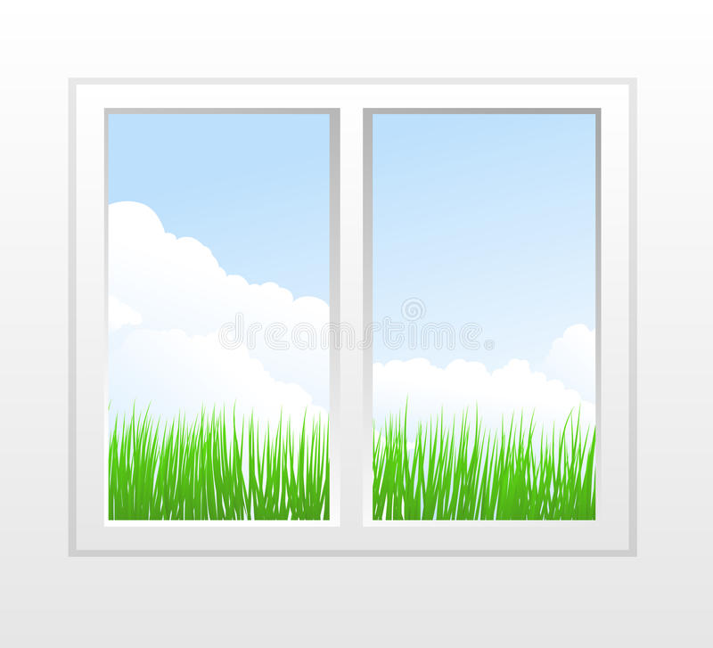 Download Closed Plastic Window With View Stock Vector - Illustration: 18326443