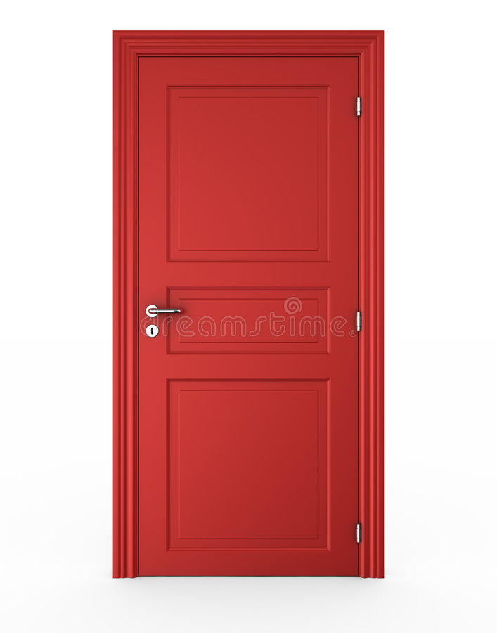 Closed red door stock illustration