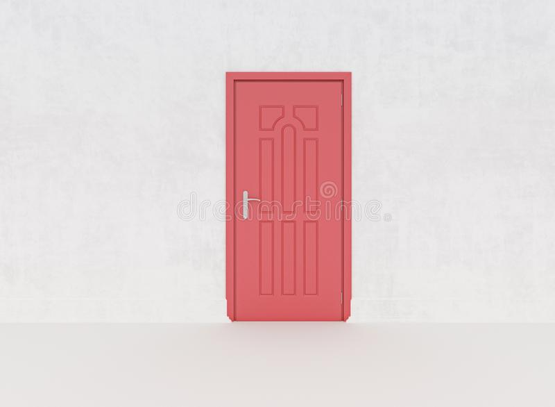 Closed Red Door stock images