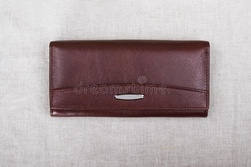 Closed red purse; purse close-up royalty free stock photo
