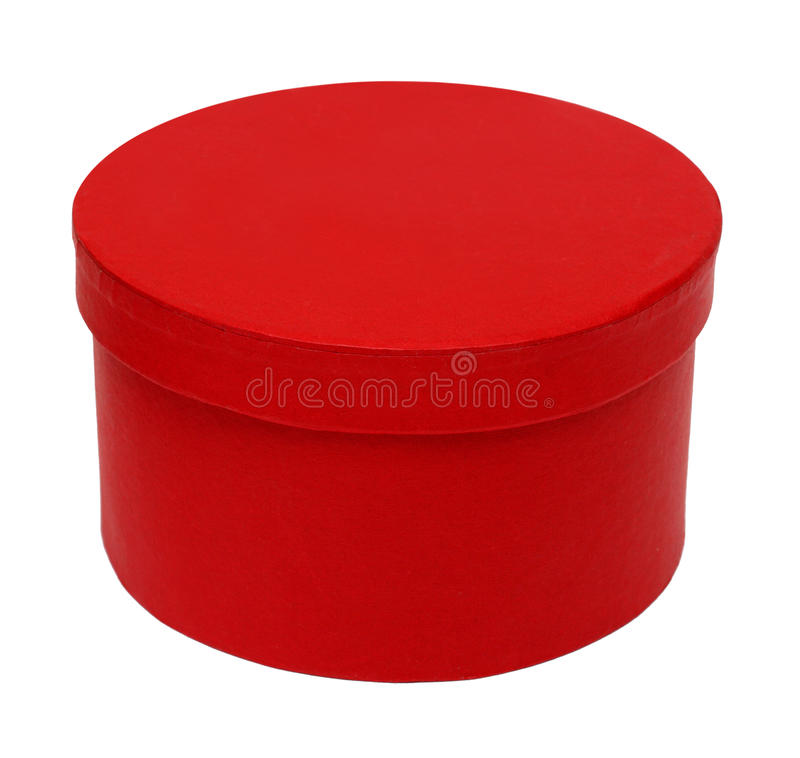 Free Closed Red Round Box Royalty Free Stock Image - 9482076