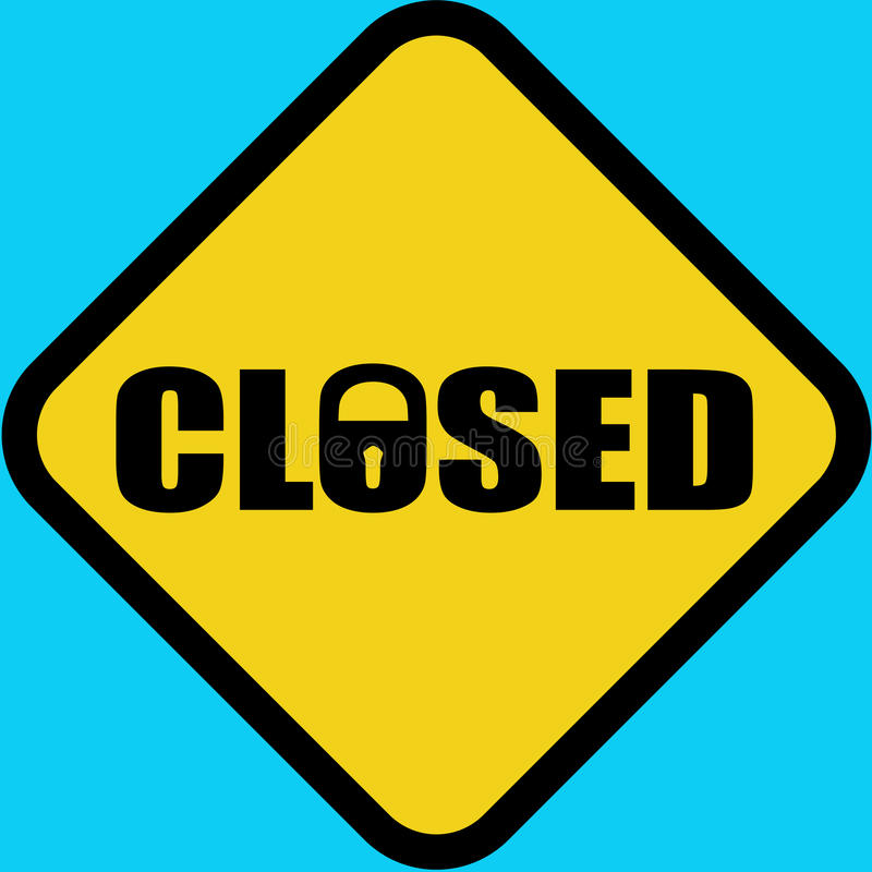 Closed_road_sign royalty free stock photography