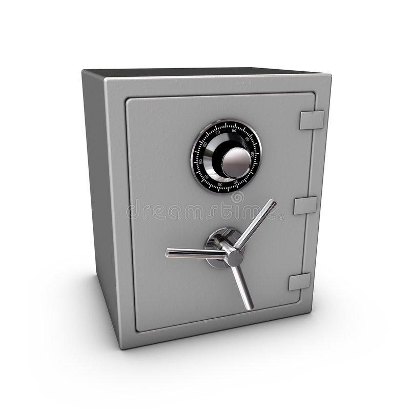 Closed Safe. 3d rendering of a closed safe royalty free illustration
