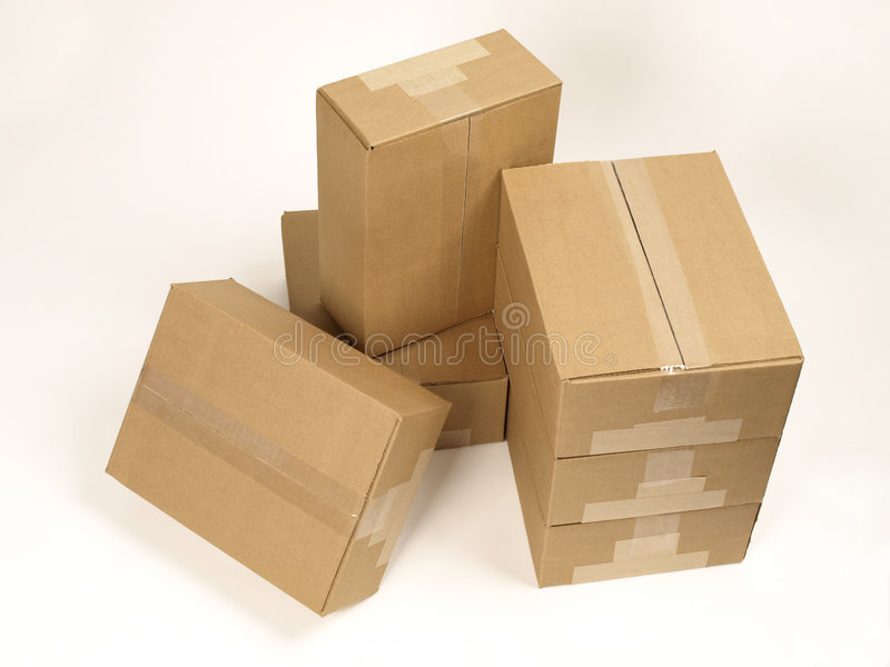 closed shipping boxes top view stock image image of stacked tape 6442323. Black Bedroom Furniture Sets. Home Design Ideas