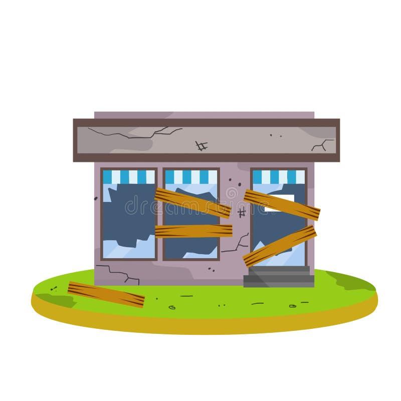 Free Closed Shop. Cartoon Flat Illustration Stock Photo - 133484170