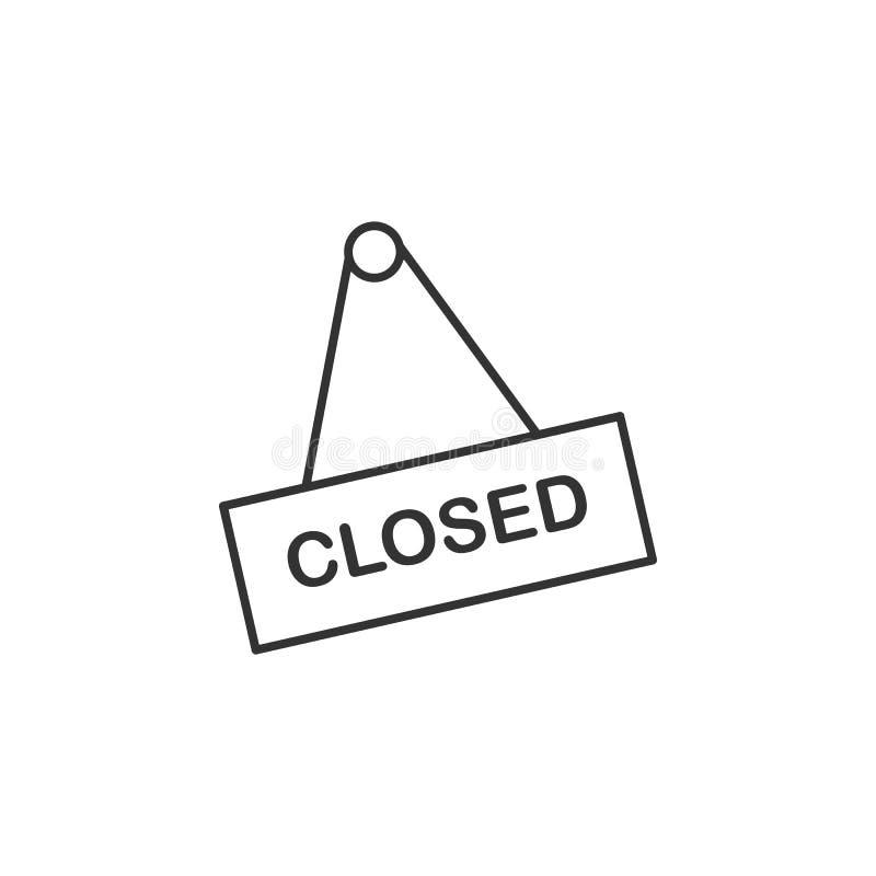 Closed, shop line icon. Simple, modern flat vector illustration for mobile app, website or desktop app royalty free illustration