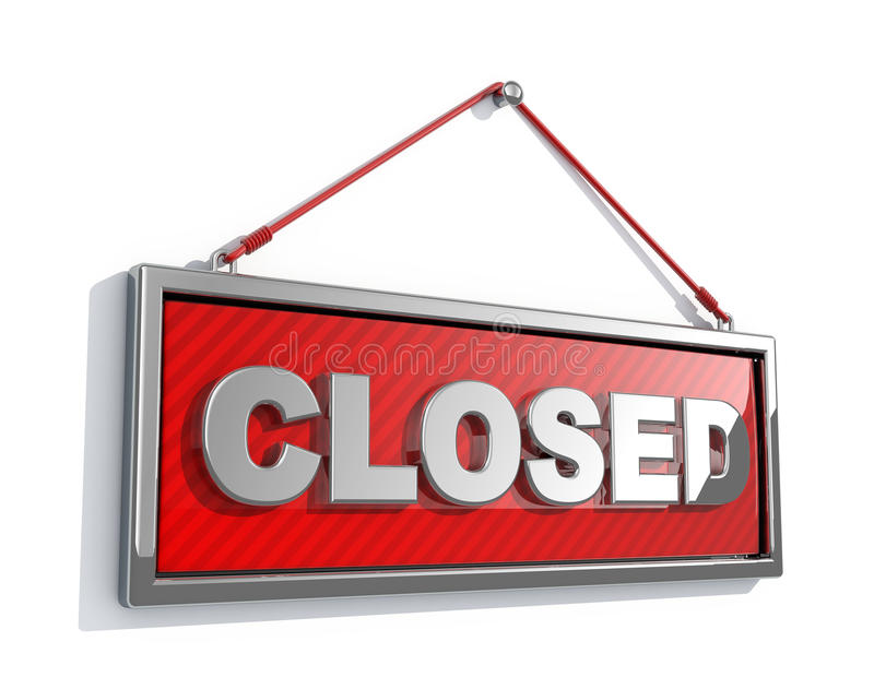 Download Closed sign stock illustration. Image of sale, poster - 11281396