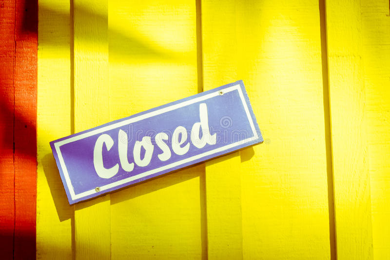 Download Closed sign stock photo. Image of relaxing, vibrant, colourful - 23993994