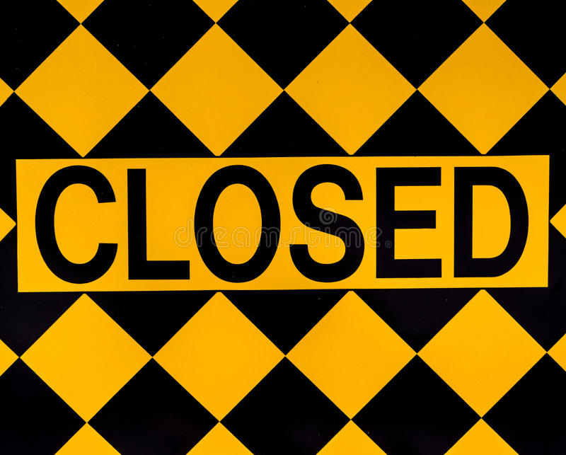 Download Closed sign stock photo. Image of signs, black, checkered - 29269784