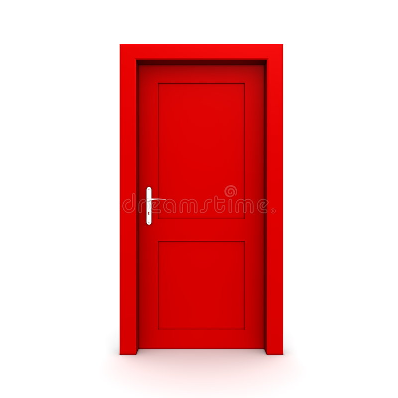 Download Closed Single Red Door stock illustration. Image of isolated - 9277231