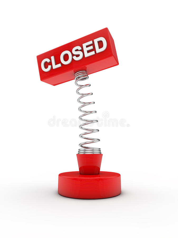 Download Closed On A Spring Royalty Free Stock Image - Image: 19497176