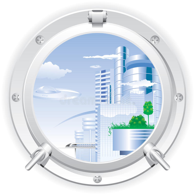 Download Closed steel porthole stock vector. Image of outdoors - 11730945