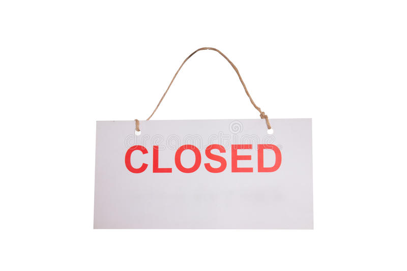 Closed tag stock image