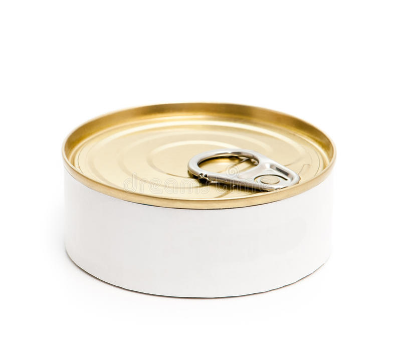 Closed tin can stock photo