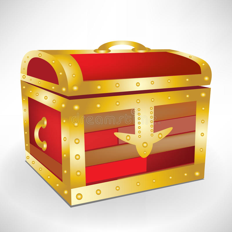 Download Closed treasure chest stock vector. Image of antique - 21542424