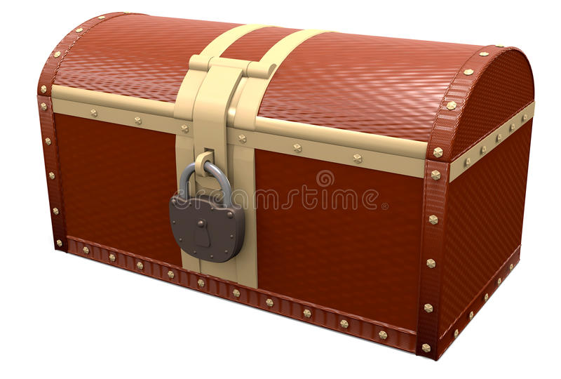 Closed Treasure Chest Stock Photography
