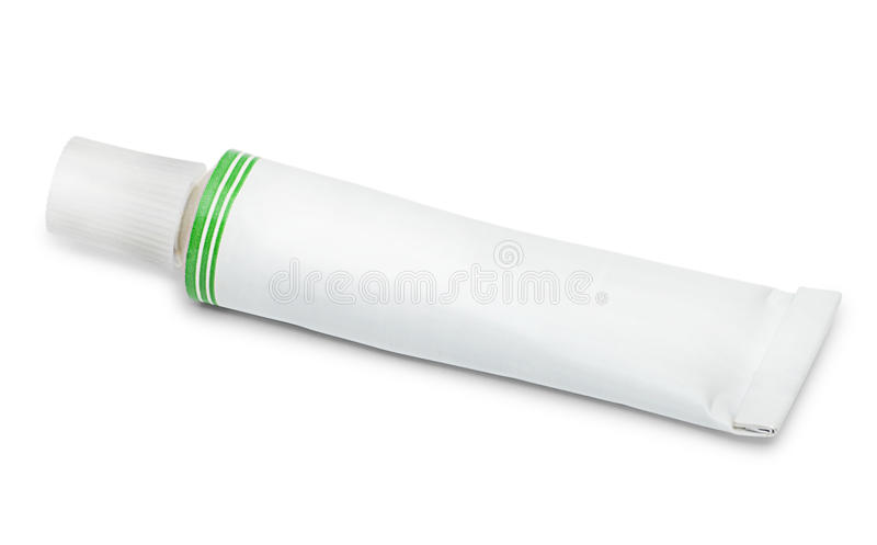 Closed tube of ointment royalty free stock photos