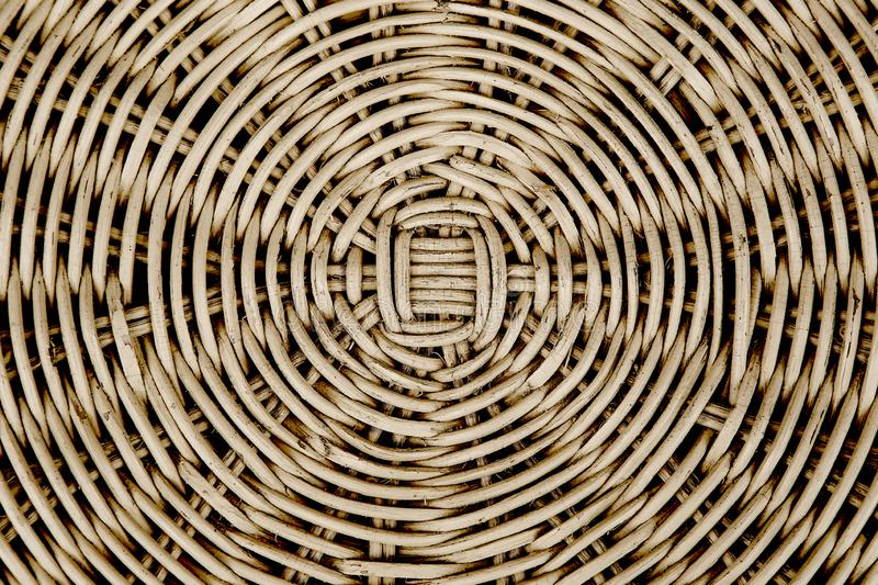 Closed up of brown color wicker textured background. stock photo