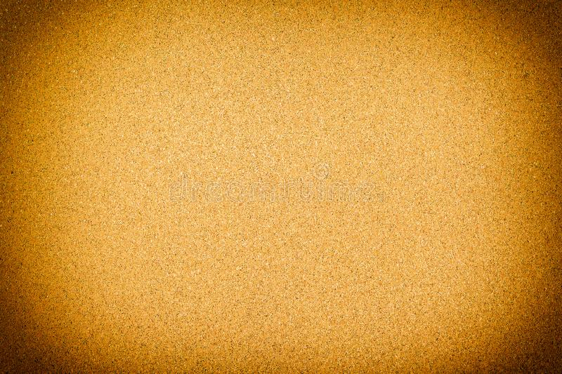 Closed up of brown cork board texture background.  stock photo