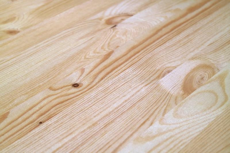 Closed Up Diagonal Pattern of Light Brown Natural Wood Plank Surface, for Texture Background stock photography