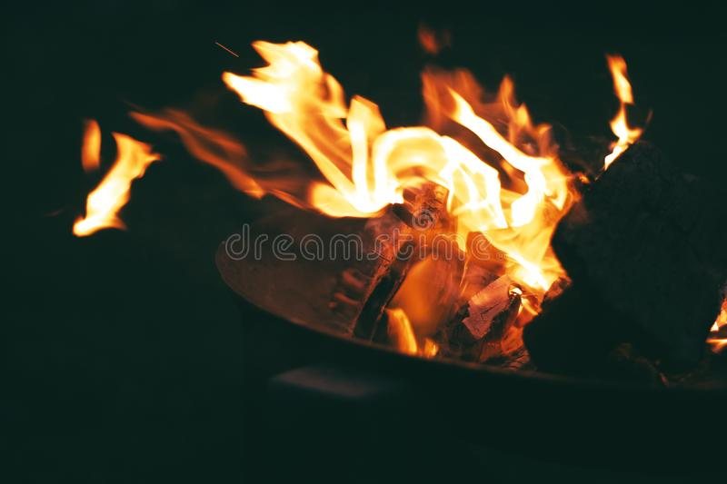 Closed Up Photo of Flames stock images