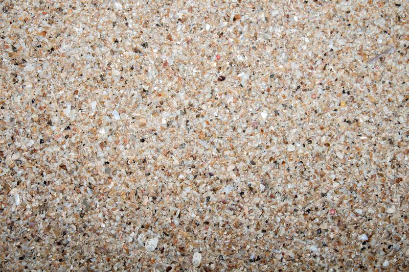 Closed up sand stones gravel texture pattern used for decoration background stock images