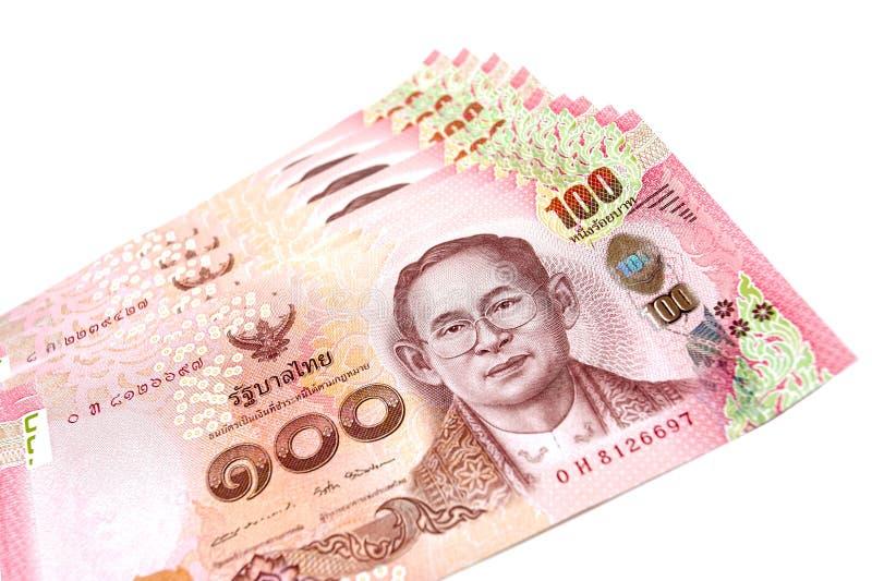 Closed up Thai bill one hundred baht royalty free stock photos