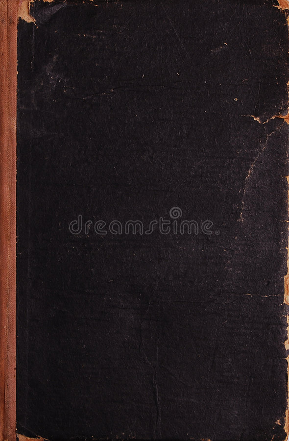 Closed vintage book texture stock image